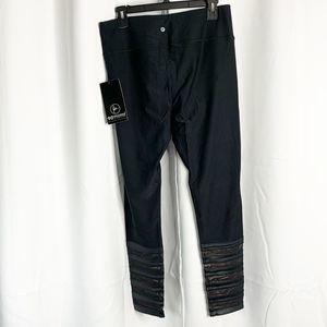 90 Degree By Reflex Pants - New 90 degrees by reflex black silver leggings xl
